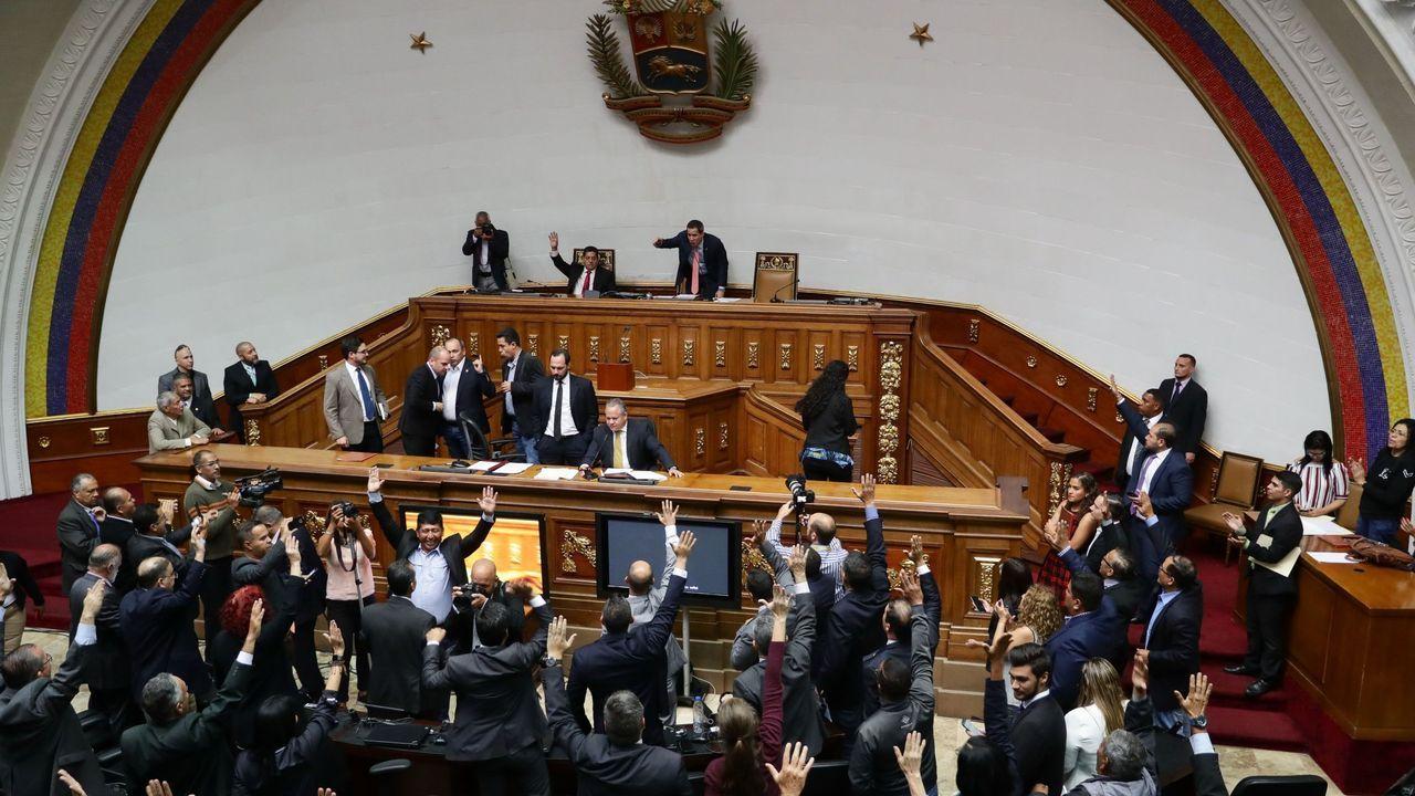 Votación en el Parlamento de Venezuela