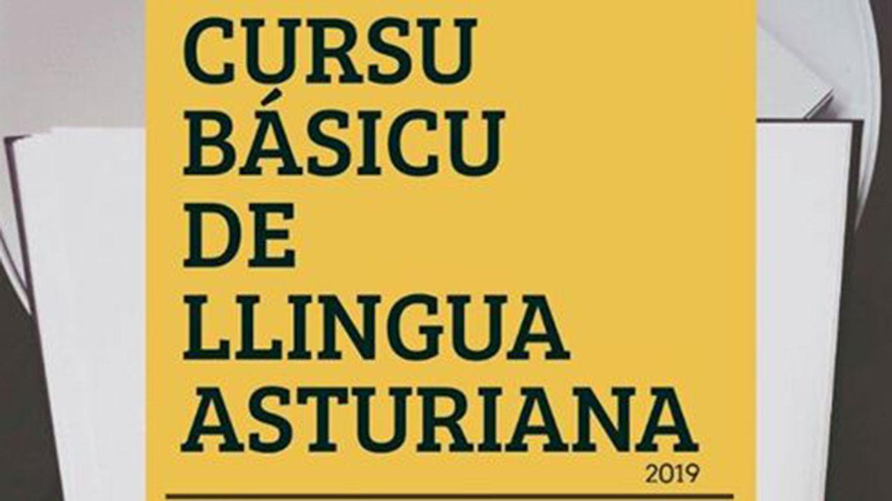 Centro de menores Los Pilares, en Oviedo.Cursu básicu de llingua asturiana, cartel de 2019