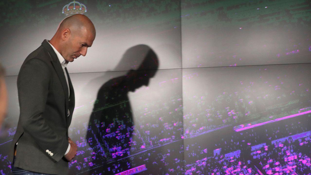 Zidane: «Estoy muy feliz de volver a casa».Fernando Alonso en el Gran Premio de Estados Unidos 2018
