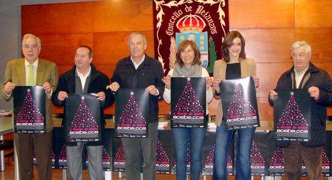 Momento de la presentación de la campaña de Navidad en Betanzos