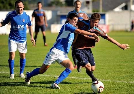 Los ponteses en el partido disputado frente al Lugo.