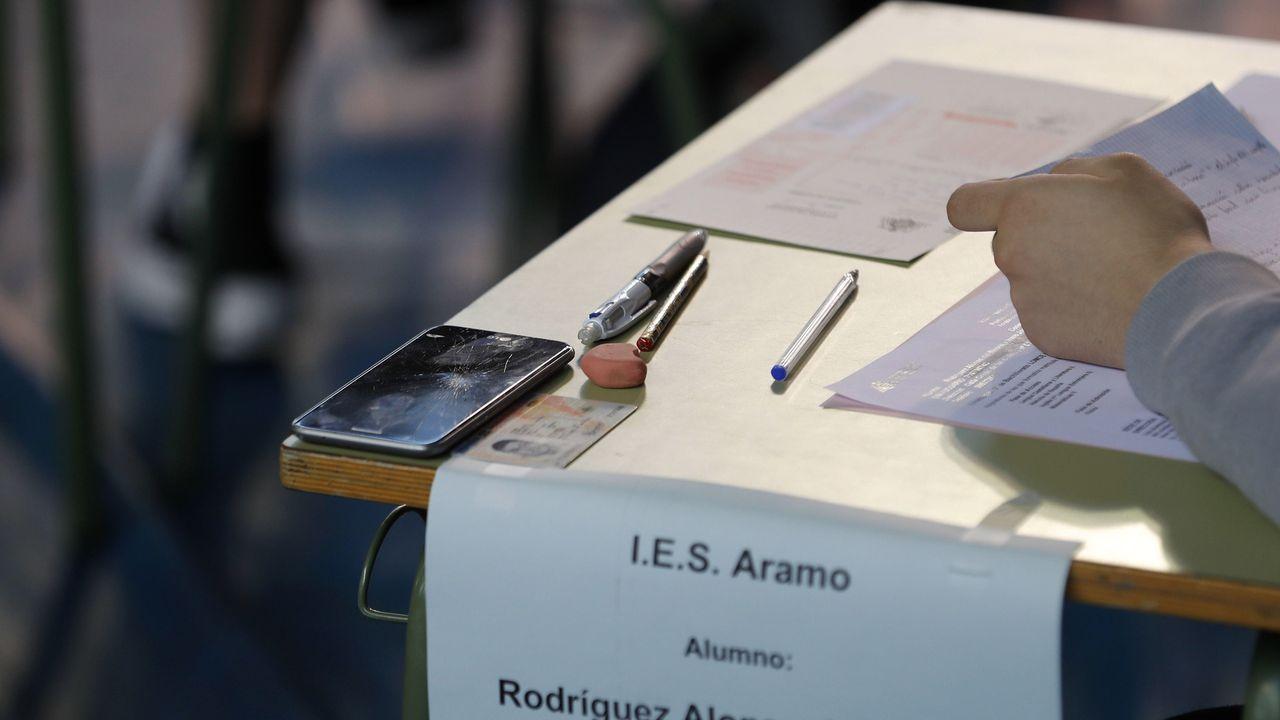 Primera jornada de la prueba de la EBAU en Asturias,