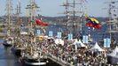 Imagen de la regata de grandes veleros en A Coruña en el año 2016