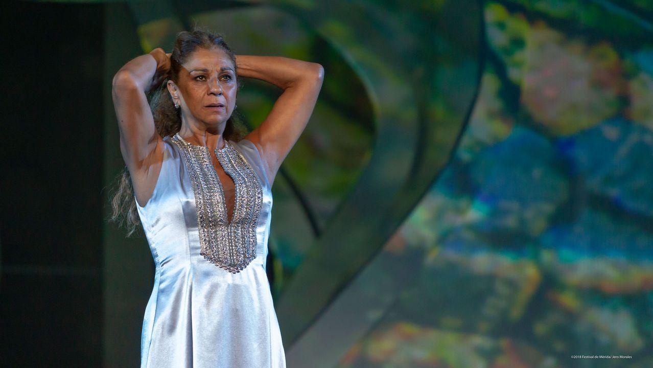 Lolita Flores.Juan Fernández interpreta al coprotagonista en «Fedra»