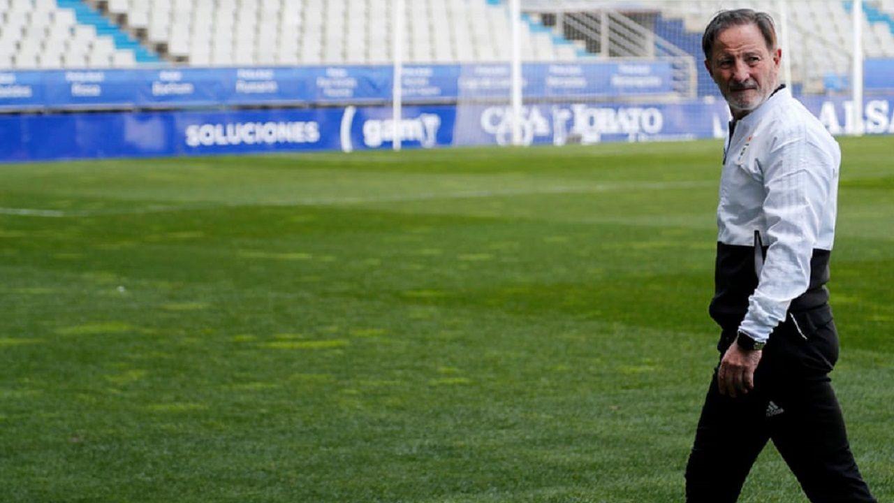 Christian Fernandez Anquela Real Oviedo Requexon.Juan Antonio Anquela en el Carlos Tartiere