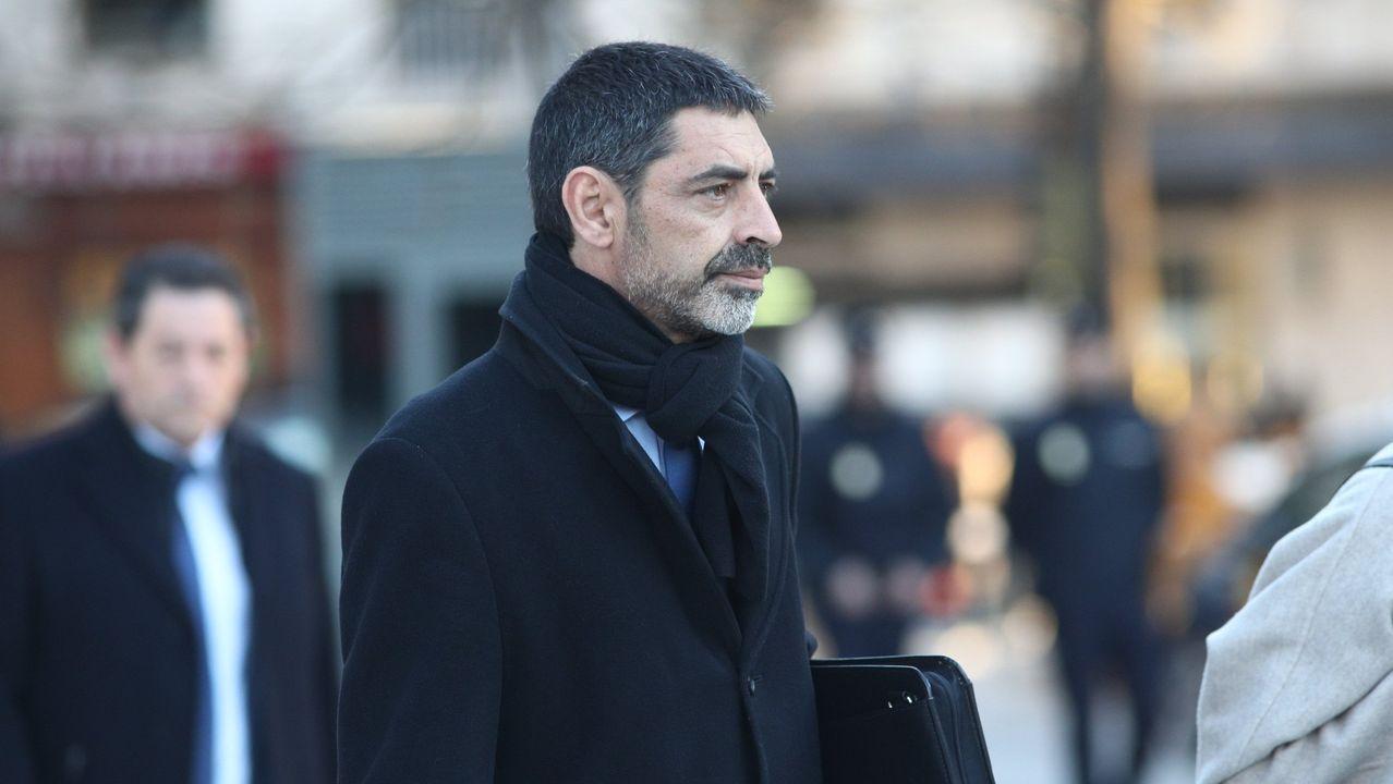 Traperodefiende que los Mossos no tenían efectivos suficientes.José Luis Trapero, a su llegada a la Audiencia Nacional en febrero del 2018