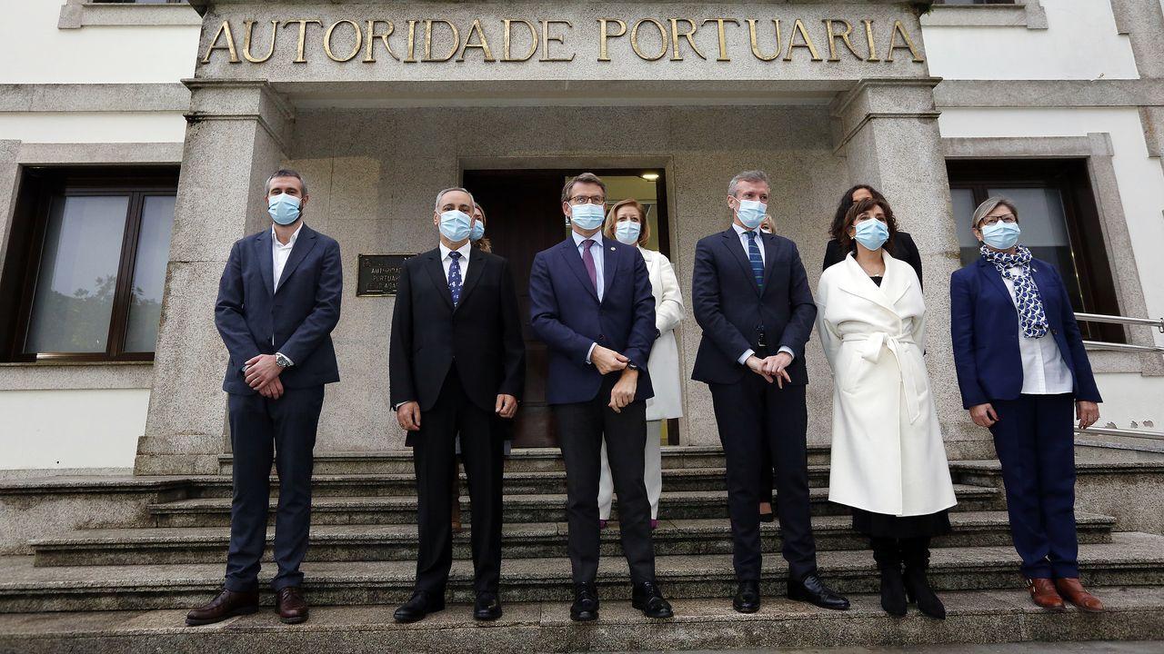 Protesta de los trabajadores de Ence.Anduriña no mostró ningún miedo a los humanos