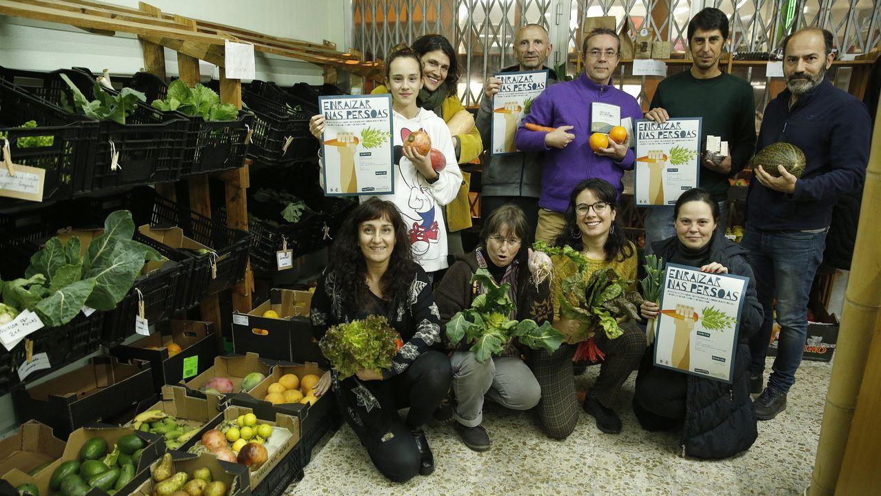 Contenedores de reciclaje en Gijón.El conjunto vocal Lugh ofrecerá un concierto en el Círculo das Artes
