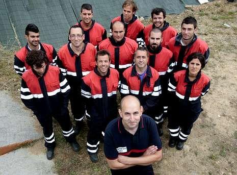 El grupo lo integran 13 personas, entre ellas el responsable de la base, Rubén Pérez Cotelo.