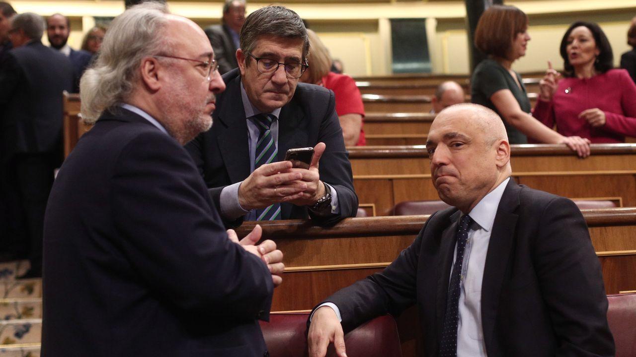 Los socialistas Patxi López y Rafael Simancas
