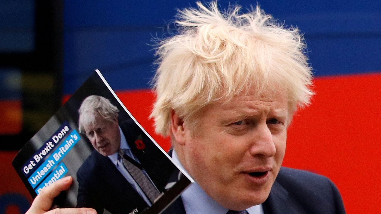 Boris Johnson, en un mitin en Birmingham