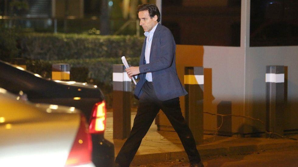 La sede de Duro Felguera.Javier López Madrid, a su salida de la Audiencia Nacional el pasado mes de abril