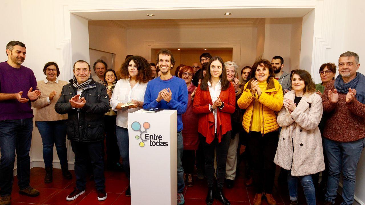 Galicia celebra los 25 años de la reinvención del Camino.Javier Fernández recibe a Alberto Núñez Feijoo, en Oviedo