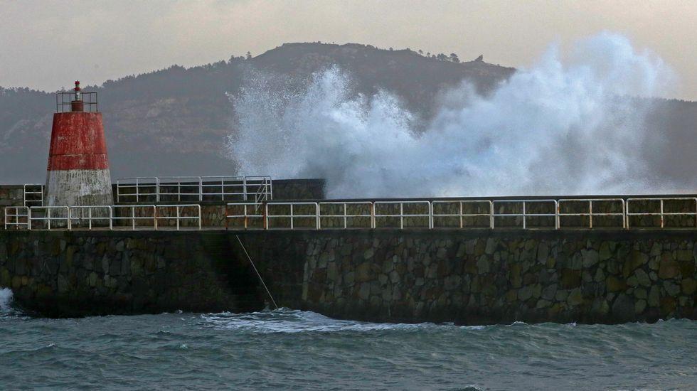 Granizada y mal tiempo en Barbanza.Playa de Tombo do Gato, en Vigo