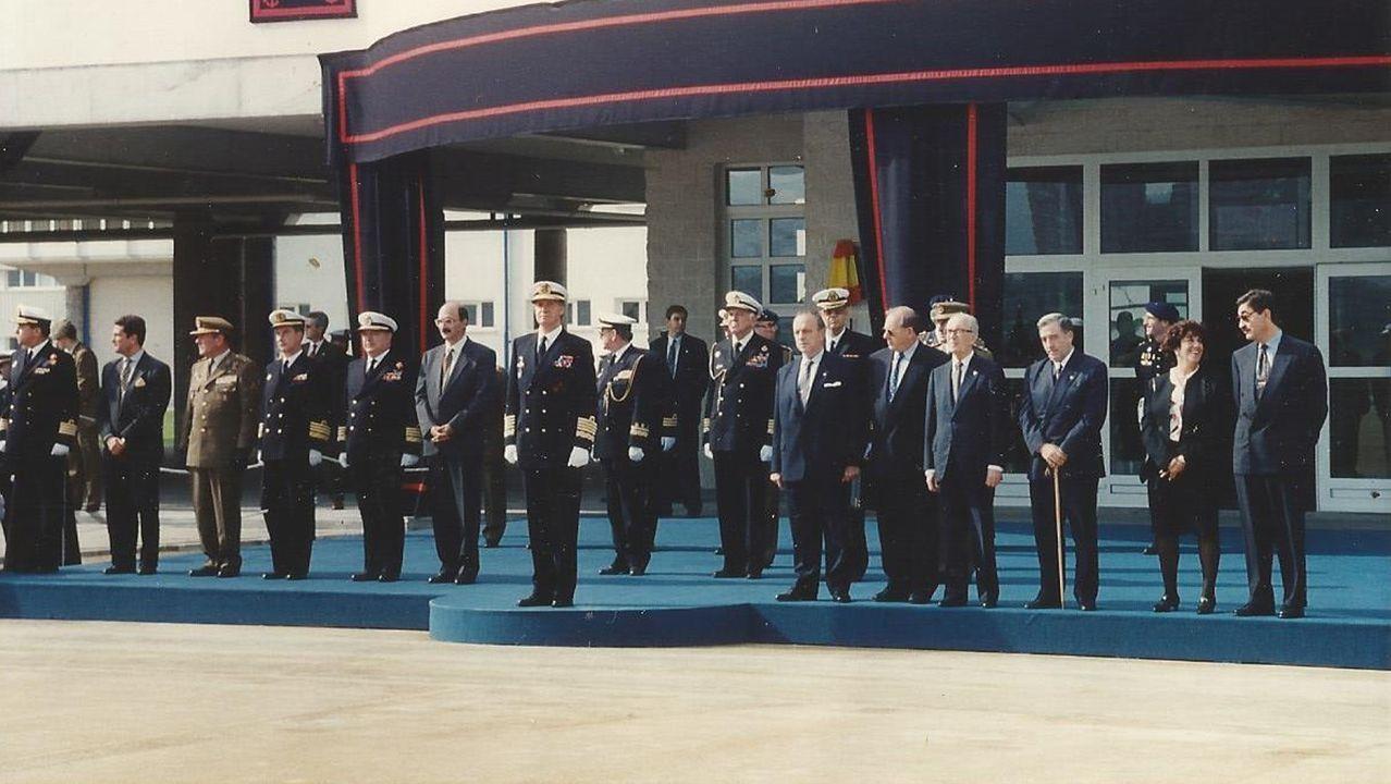 La visita de Feijoo a Cortizo, en imágenes.El rey Juan Carlos presidió la inauguración de la escuela el 17 de octubre de 1994