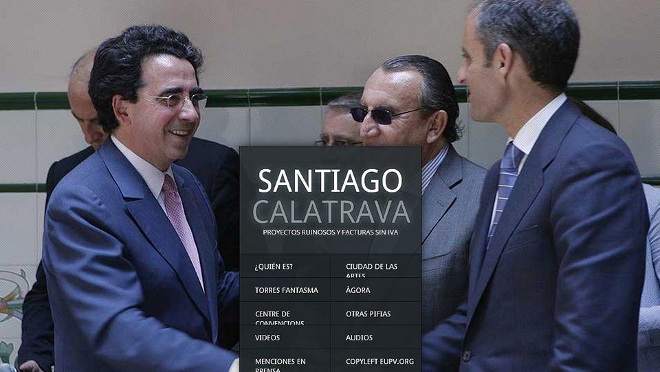 Captura de la web calatravatelaclava.com