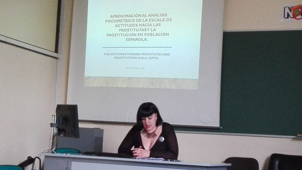 María Martínez, durante una jornadas en las que también se abordó el tema de la prostitución