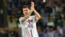 Messi, en el partido contra el Brujas