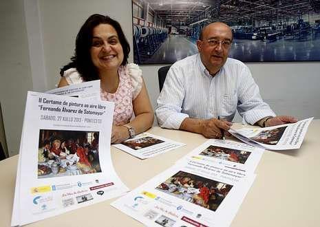 María José Imia y José Luis Fondo durante la presentación del certamen pictórico.