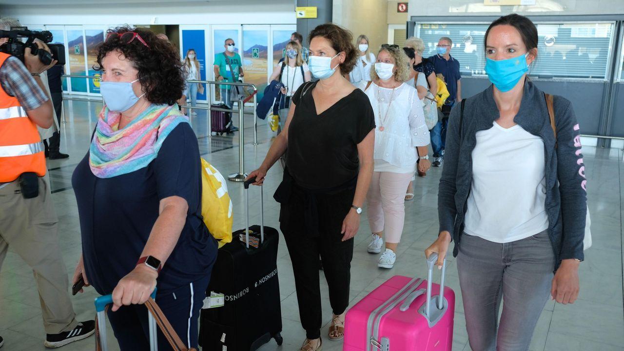 Llegada este domingo al aeropuerto de Fuerteventura del primer vuelo promocional desde Alemania