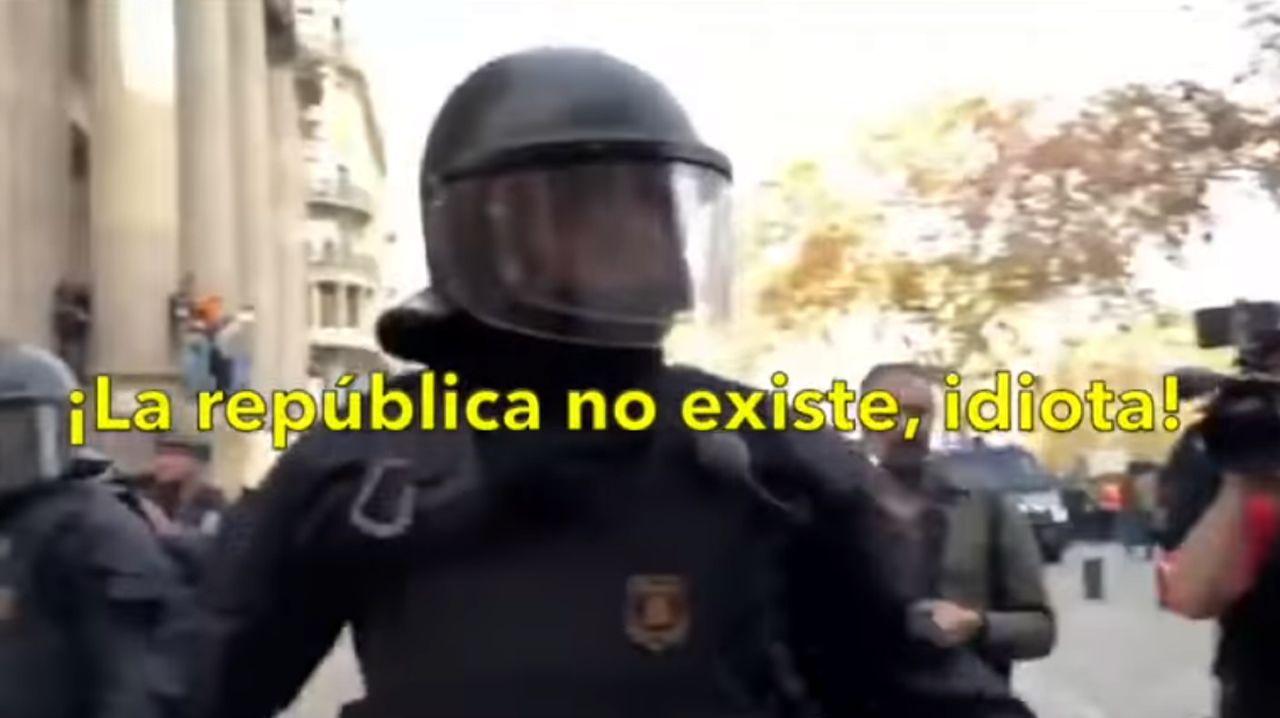 «¡La república no existe, idiota!».Irene Meritxell e Imanol Arias en julio del 2019