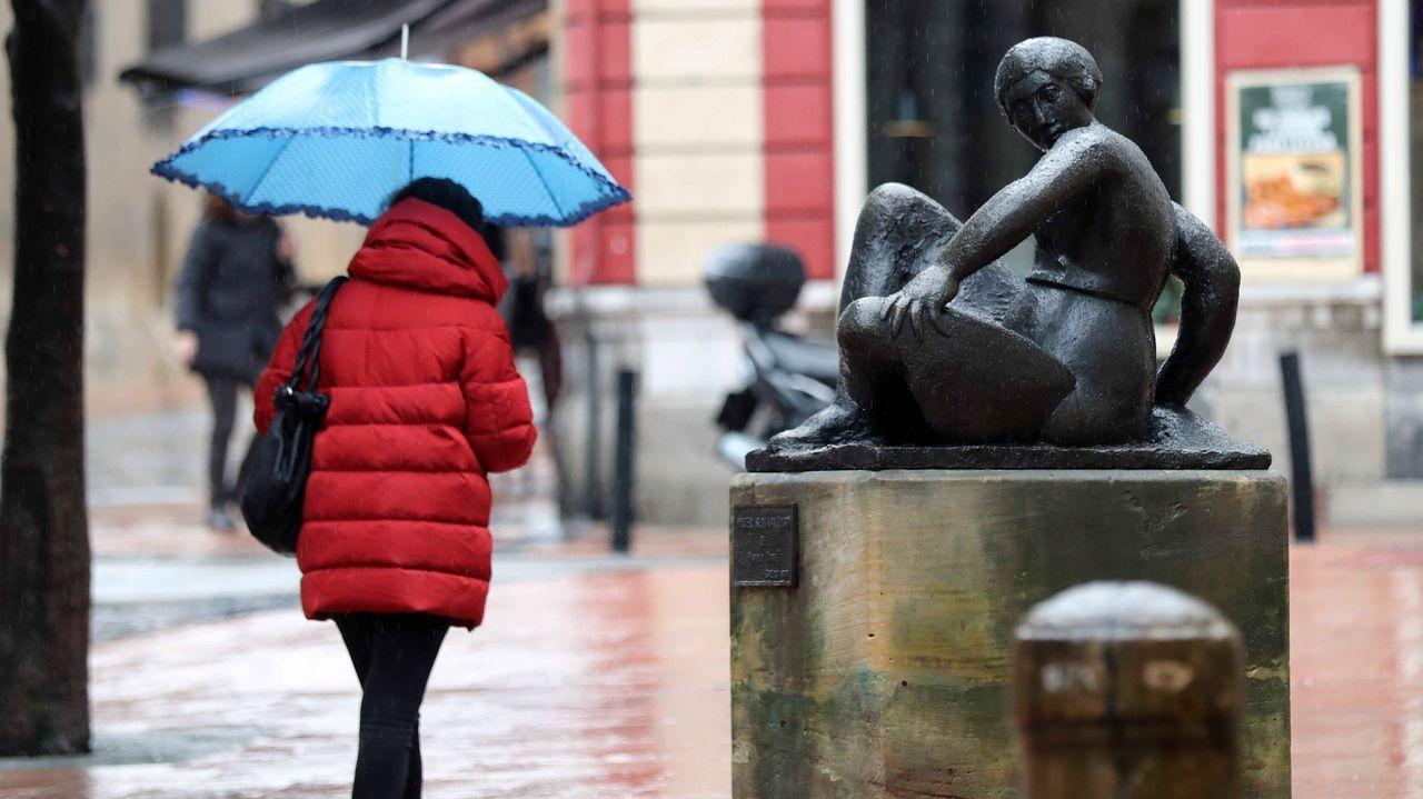 La lluvia en Oviedo