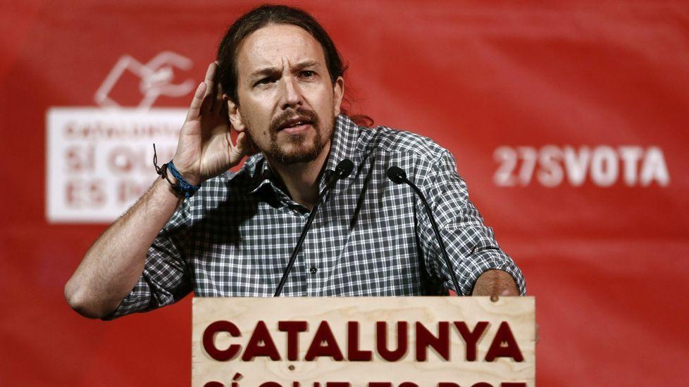 Montilla: «España sin Cataluña no sería España. No estamos hablando de Ceuta y Melilla».Pablo Iglesias se ha volcado en la campaña de Sí que es Pot.