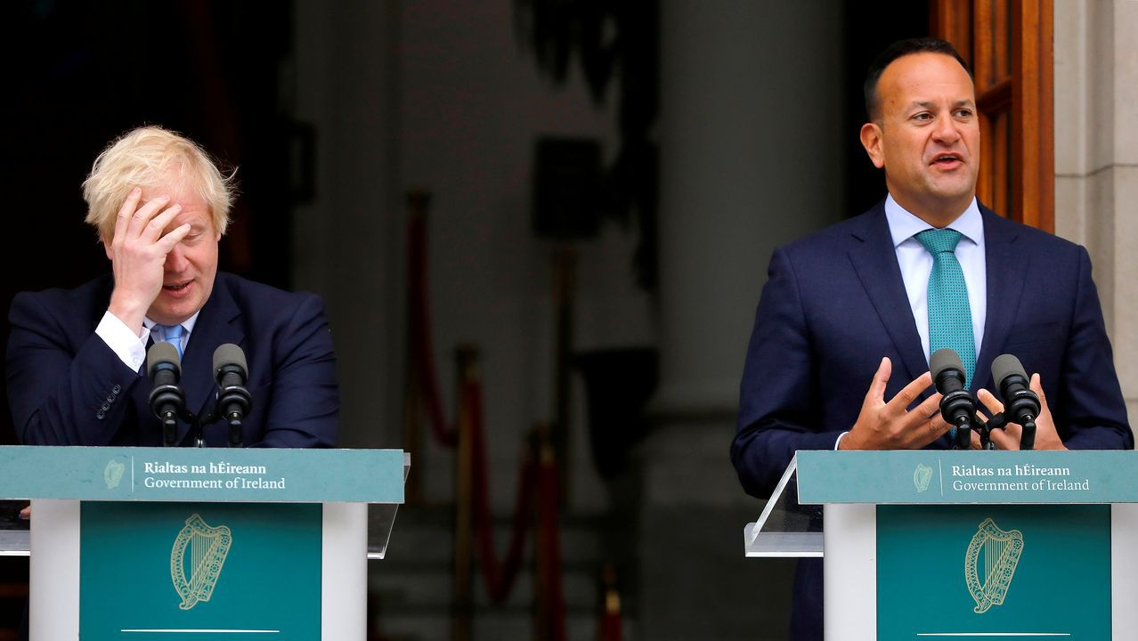 «Una falta de acuerdo causará mucho trastorno en Irlanda», afirmó el primer ministro de Irlanda en la rueda conjunta conJohnson