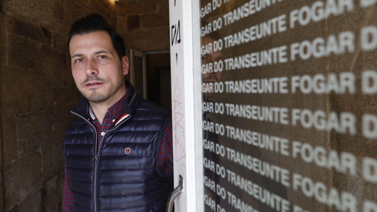 Jorge Guerra, conserje y vigilante en el Fogar do Transeúnte