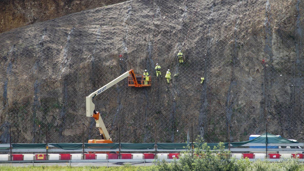 Las obras permitieron estabilizar una hectárea de ladera