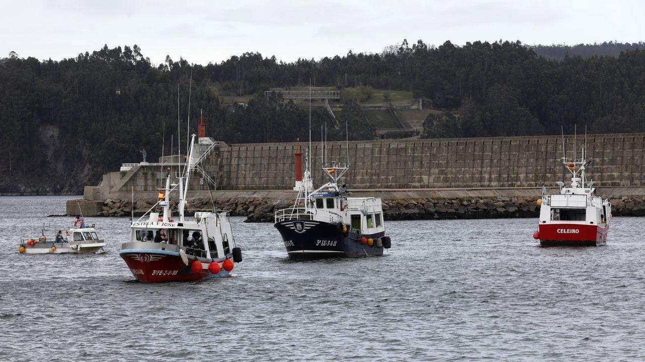 Pesqueros concentrados en Celeiro