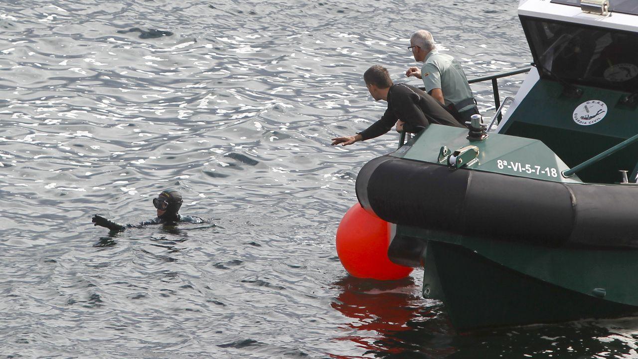 Operativo de búsqueda de un pescador desaparecido en Ferrol