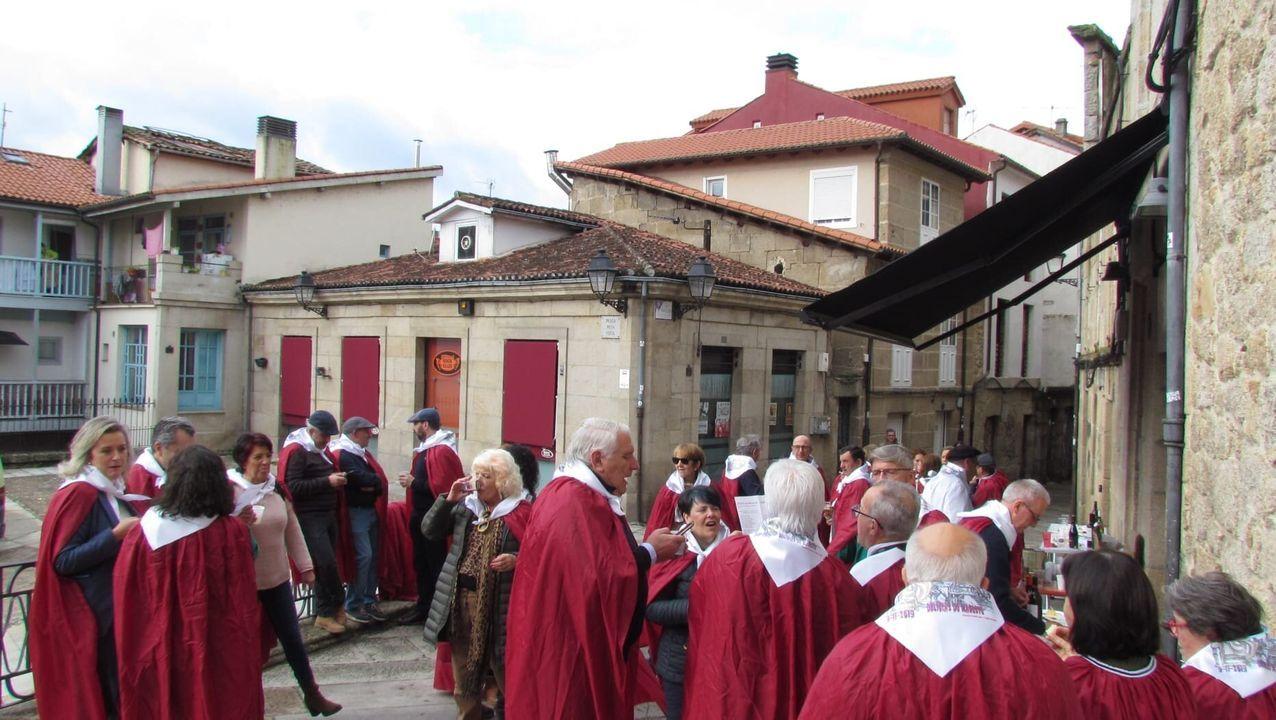 MAGOSTOS 2019.La Asociación Camiño Real y la Legión Irmandiña celebraron sus magostos en la Plaza Pena Vixía