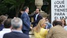 Pablo Casado y el candidato a lendakari por la coalición PP+Cs, este viernes en Vitoria