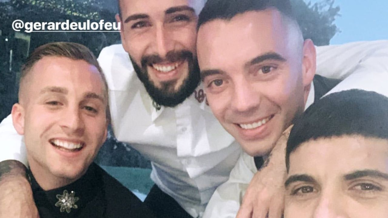 Jordi Figueras, Pepe Aicart, Dani Abalo, Sergio Álvarez y sus respectivas parejas
