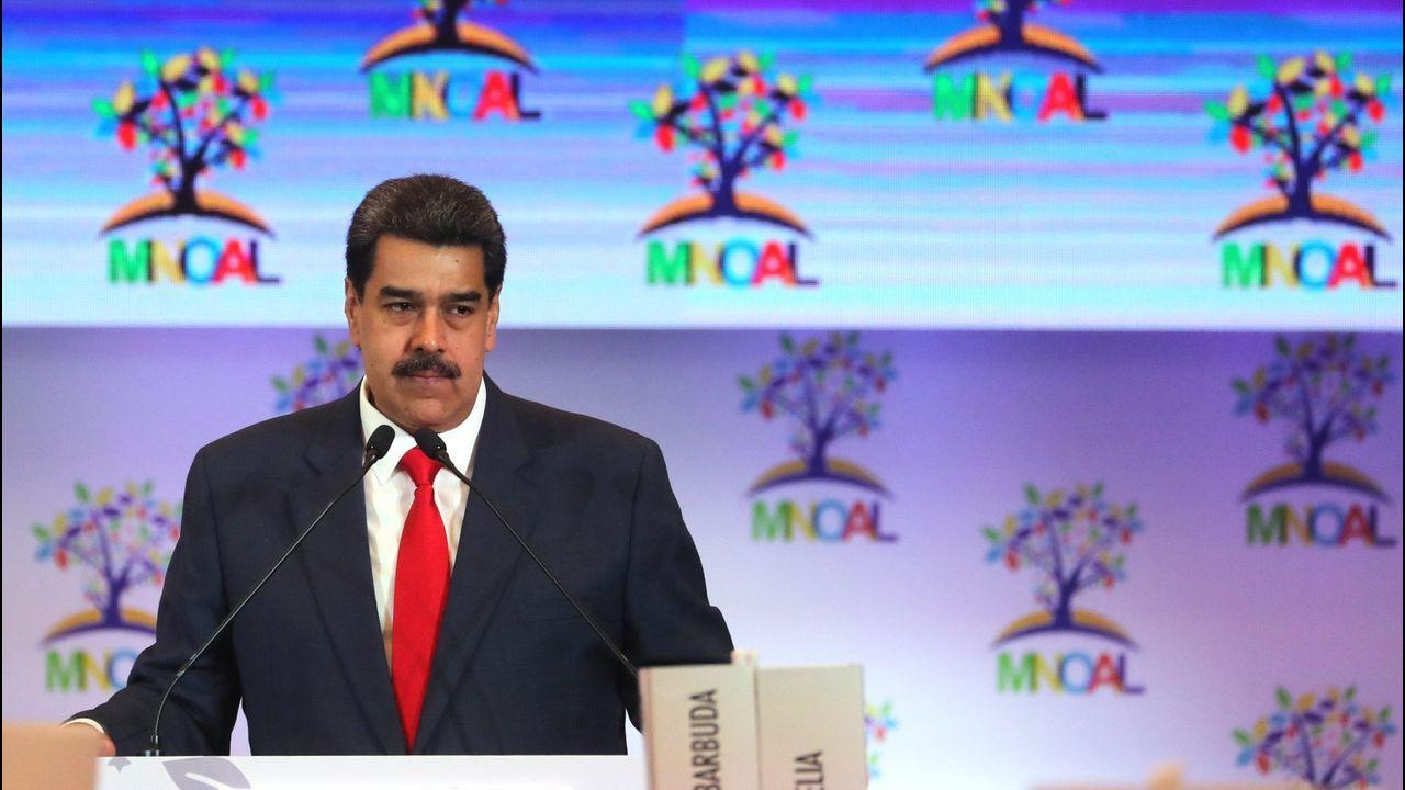 Nicolás Maduro, en un acto en San Francisco de Yare