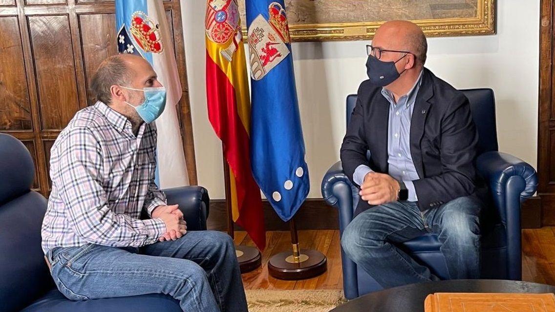 Reunión del alcalde de Ourense y el presidente de la Diputación