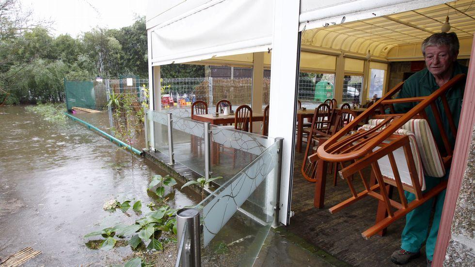 Inundaciones en Ponte Maceira.