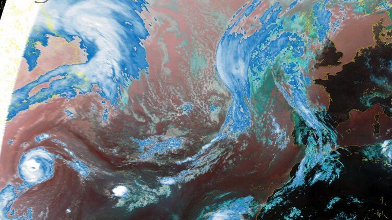 En la imagen del satélite se puede apreciar el huracán Paulette