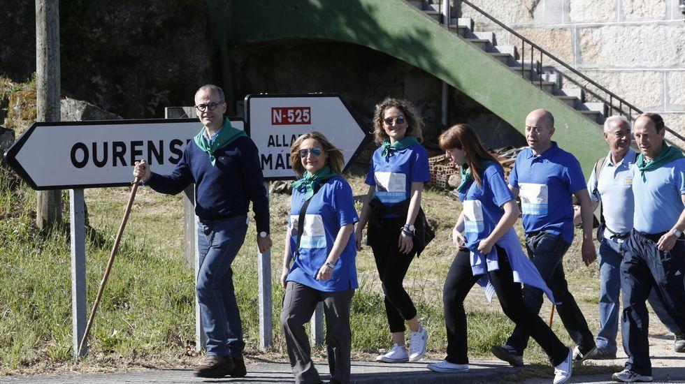 Los candidatos del PP en Ourense, con Jesús Vázquez en cabeza,  peregrinan hasta Seixalbo