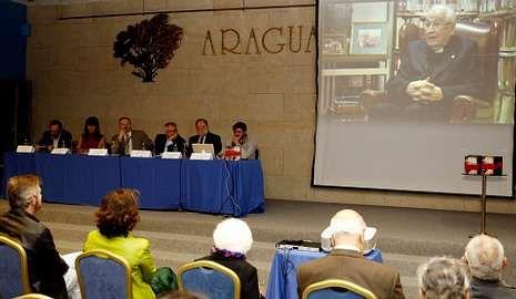 Fernández Latorre.El proyecto audiovisual se presentó ayer en Santiago.