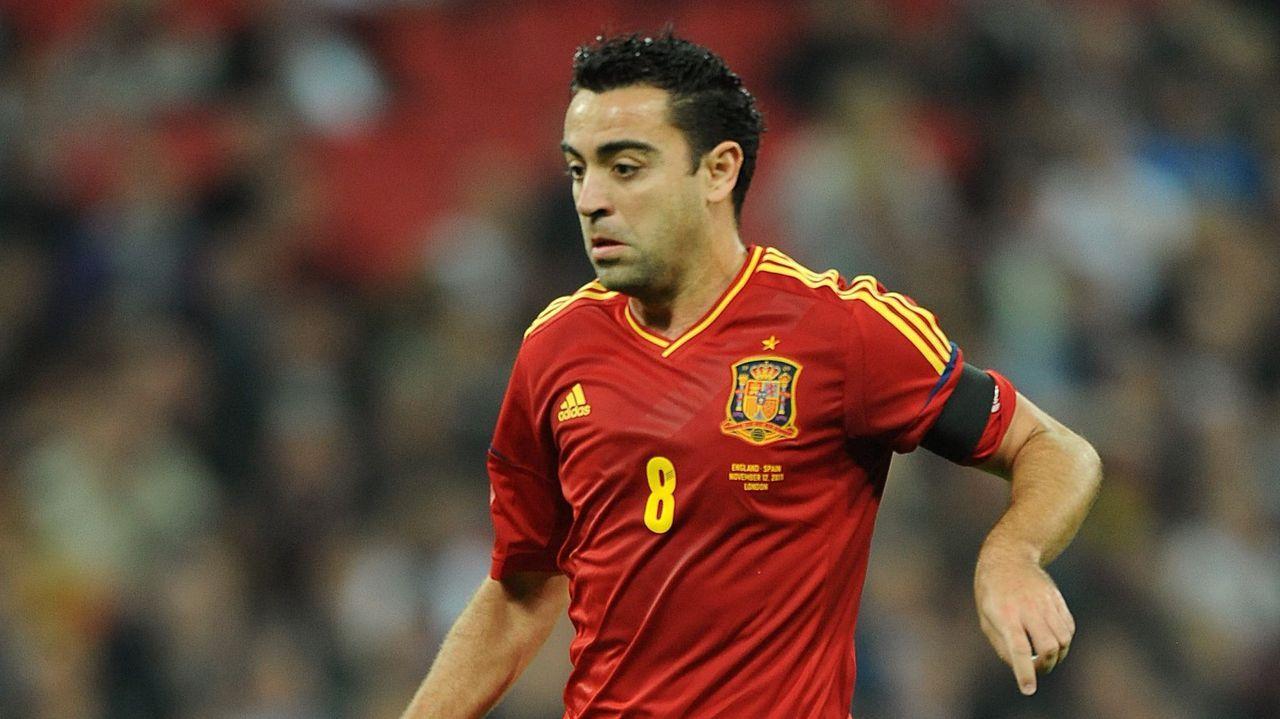 Imagen del futbolista en su época como internacional absoluto