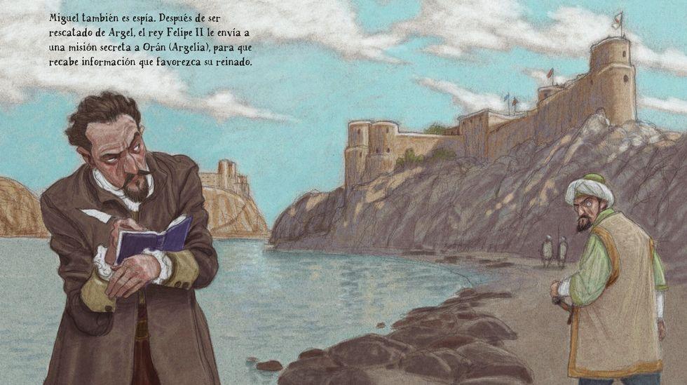Felipe VI sobre la independencia de Cataluña: «Que nadie construya muros con los sentimientos».Monumento al séptimo conde de Lemos en la plaza de la Compañía de Monforte.