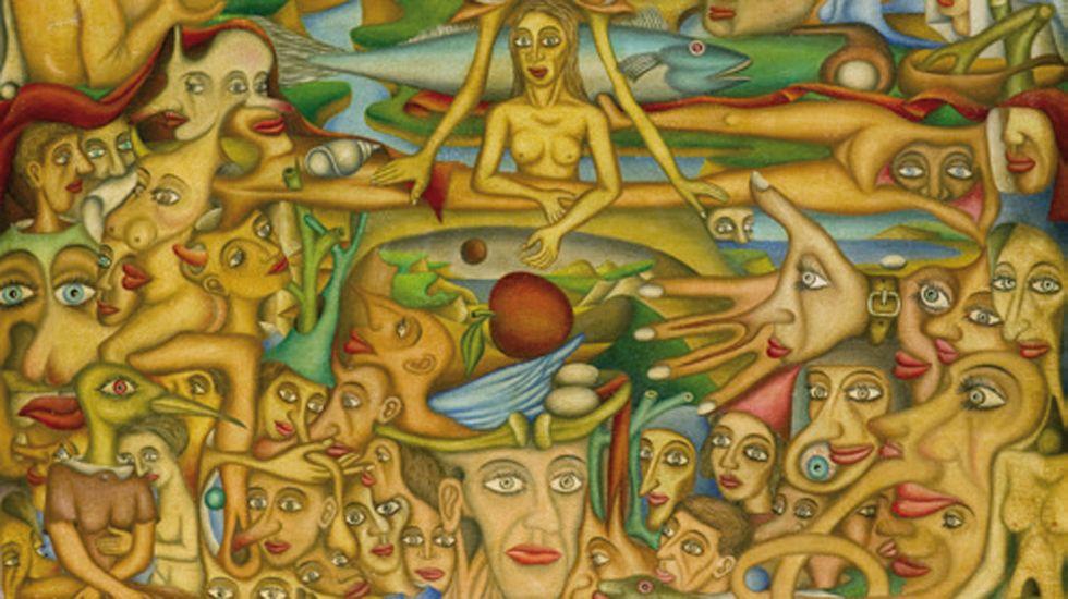 rosalía.Un fragmento de «Mundo oculto», obra de Aurelio Suárez