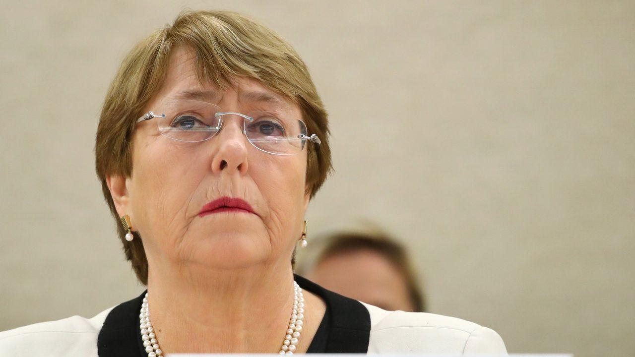 La alta comisionada de la ONU para los Derechos Humanos, Michelle Bachelet, reclama justicia y apoyo para las víctimas