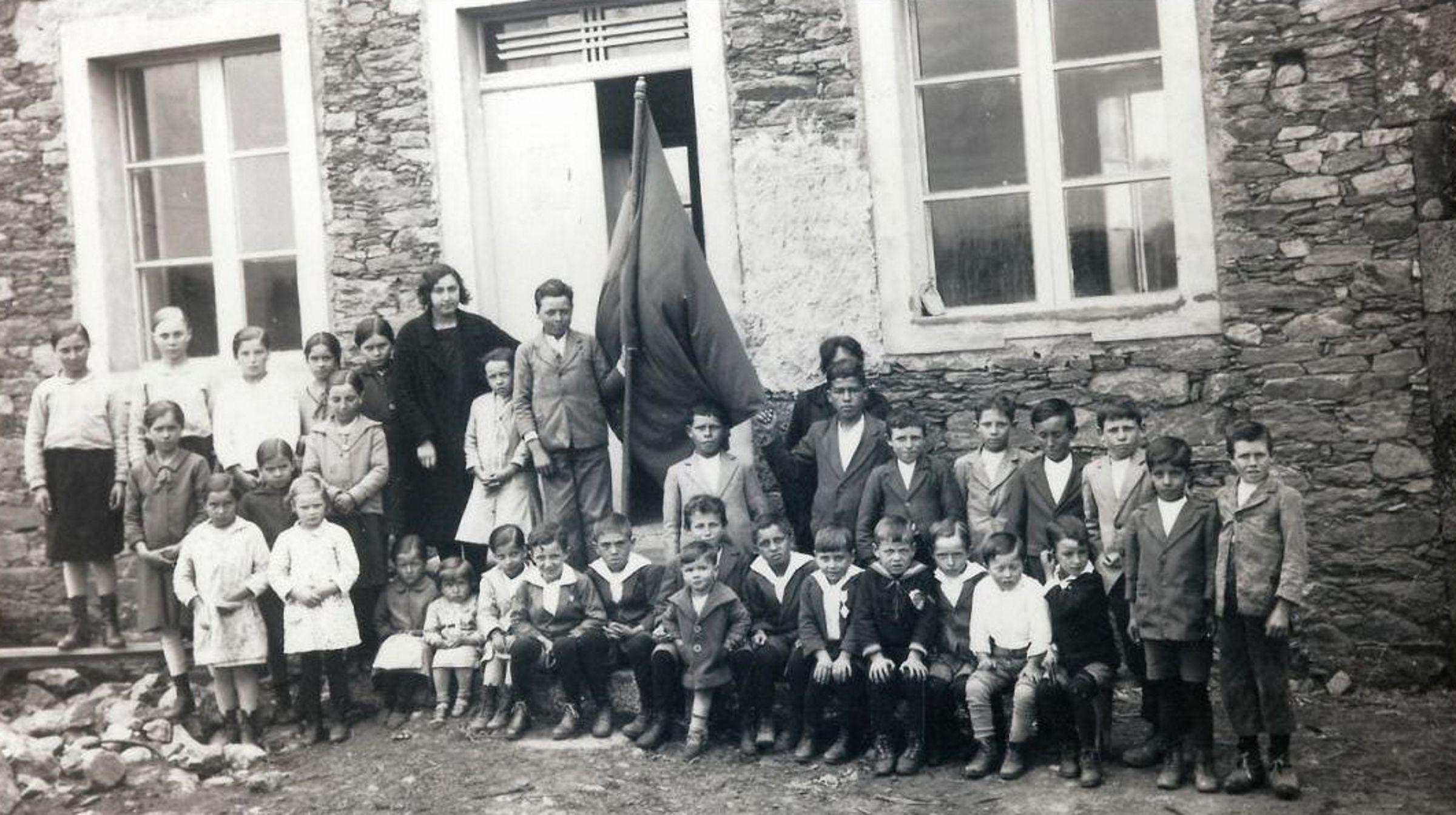 Escuela de Fornelos, en 1931