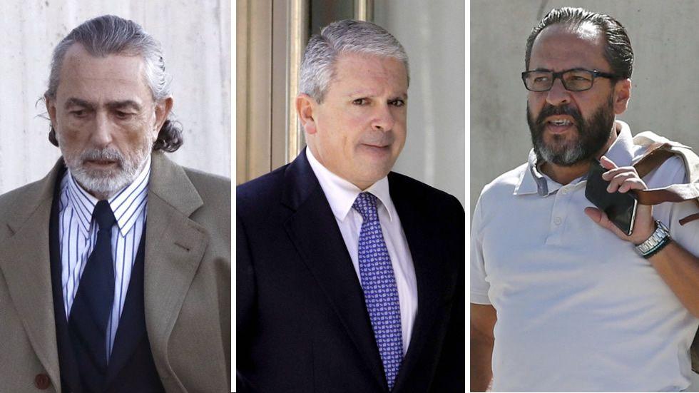 Sentencia sobre la trama Gurtel: cárcel para Crespo, Correa y El Bigotes.Francisco Correa llegando hoy al juicio