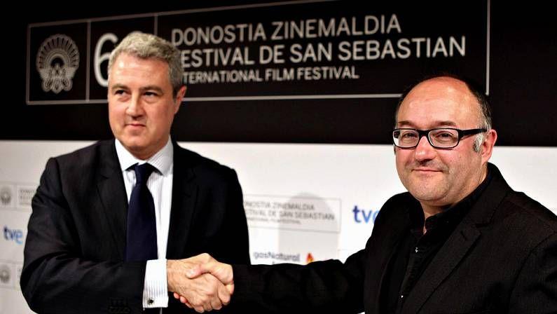 Rebordinos con el director de comunicación de Gas Natural fenosa, Jordi García Tabernero, empresa que patrocinará el certamen