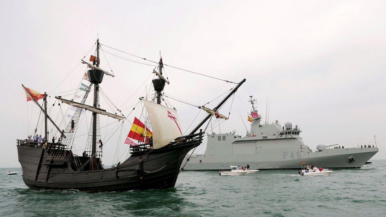 Réplica de la nao Victoria, en la que Juan Sebastián Elcano coronó la aventura de dar la vuelta al mundo que inició Fernando de Magallanes hace ahora cinco siglos