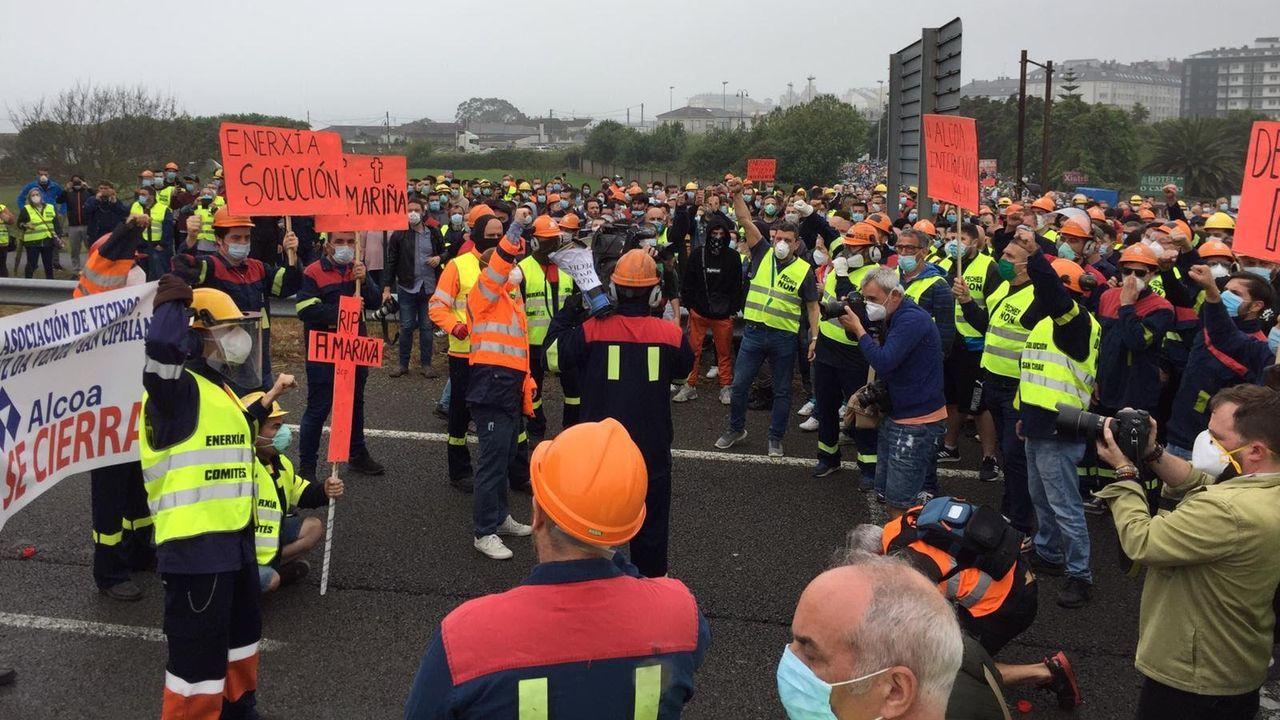 Protesta. Manifestación Alcoa en Ribadeo